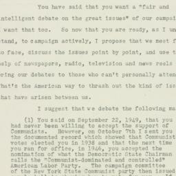 Letter : 1949 October 16