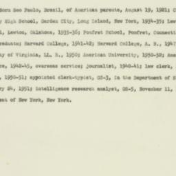 Letter : 1953 July 22