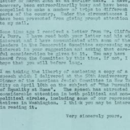 Letter : 1957 April 15