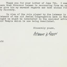 Letter : 1962 June 15