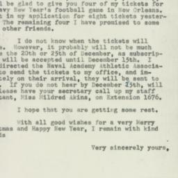 Letter : 1954 December 7