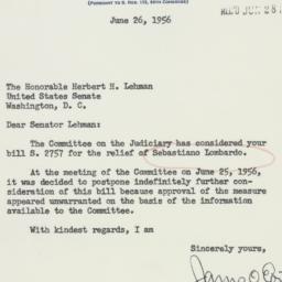 Letter : 1956 June 26