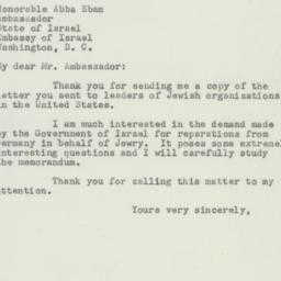 Letter : 1951 March 21