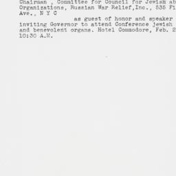 Telegram : 1939 January 10