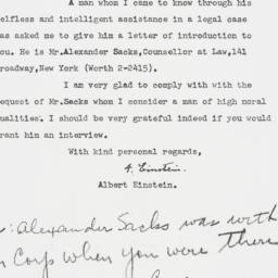 Letter : 1954 October 14