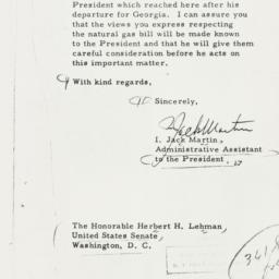 Letter: 1956 February 15