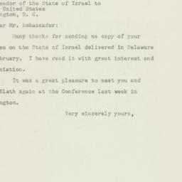 Letter : 1949 April 2