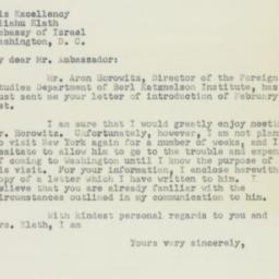 Letter : 1950 February 23