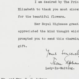 Letter: 1951 November 3
