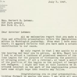 Letter : 1947 July 3