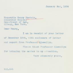 Letter : 1936 January 2
