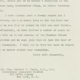 Letter : 1947 November 7