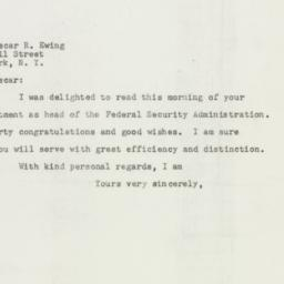 Letter : 1947 August 20