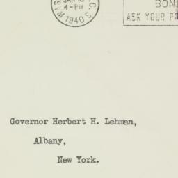 Envelope: 1939 January 18