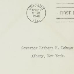 Envelope: 1939 April 26