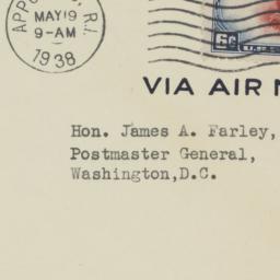 Envelope: 1938 May 19