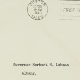 Envelope: 1940 October 28