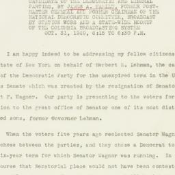 Speech: 1949 November 1