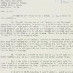 Letter : 1952 March 7