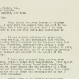 Letter : 1949 October 27