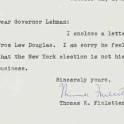 Letter: 1949 October 21