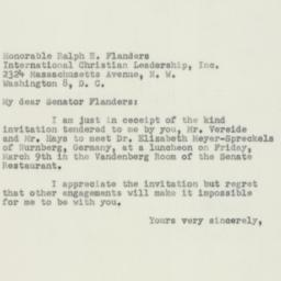 Letter : 1951 March 6