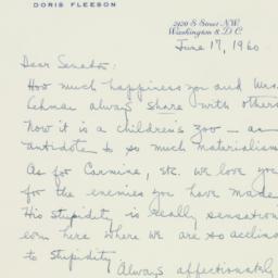 Letter: 1960 June 17