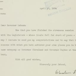 Letter : 1934 April 30