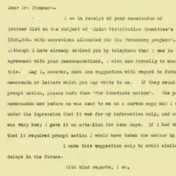 Letter : 1925 October 26