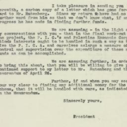 Letter : 1926 May 20