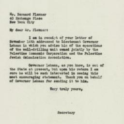 Letter : 1932 November 19