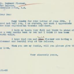 Letter : 1933 August 3