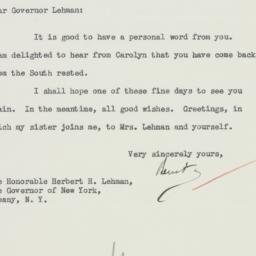 Letter : 1934 December 4