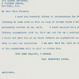 Letter : 1937 November 6