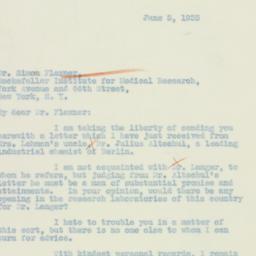 Letter : 1933 June 5