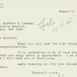 Letter : 1940 August 2