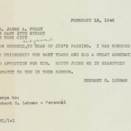 Telegram : 1946 February 13