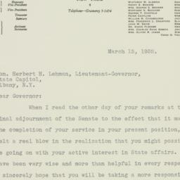 Letter: 1932 March 15