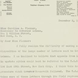 Letter: 1932 December 2
