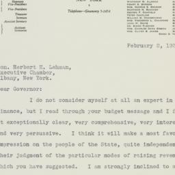 Letter: 1933 February 2