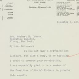 Letter: 1934 December 7