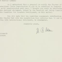 Letter : 1949 December 30