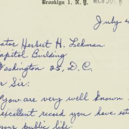 Letter : 1956 July 4