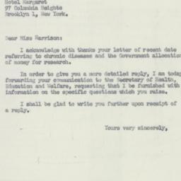 Letter : 1956 July 12