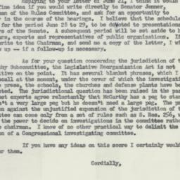 Letter : 1954 June 25
