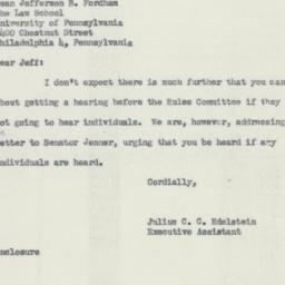 Letter : 1954 July 17