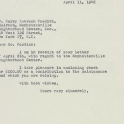Letter : 1948 April 11