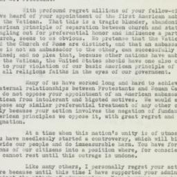 Letter : 1951 October 22