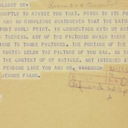 Telegram : 1941 December 3