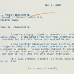 Letter : 1935 May 3